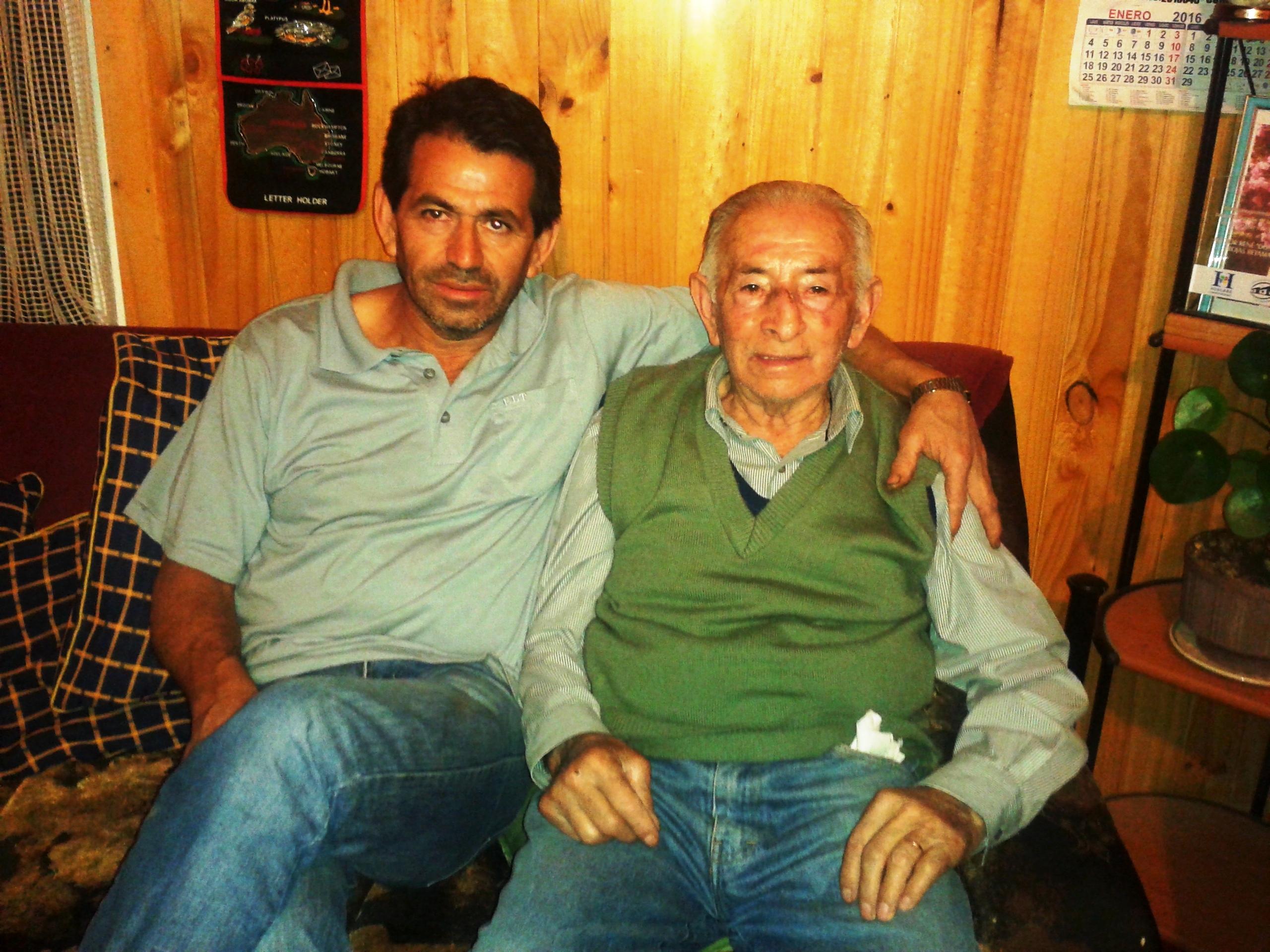 Hector Rojas y su hijo Patricio