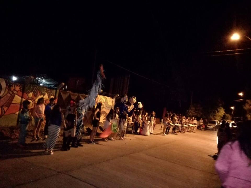 Comunidad Huertina homenajeó a Carabineros y Bomberos del sector