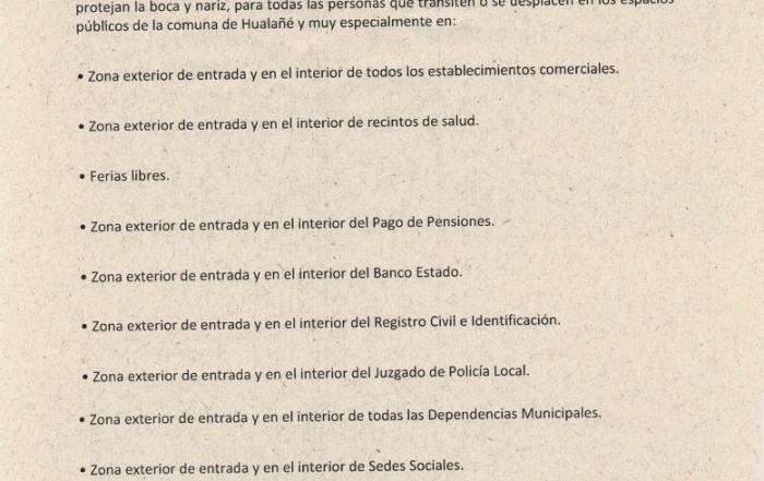 Decreto 1145 - Uso de Mascarilla