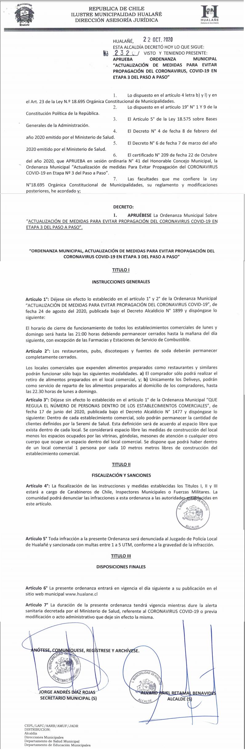 Decreto 2320